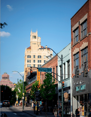 Downtown Asheville's Jackson Building and City Hall are showcased in a new report by PGAV and commissioned by the Buncombe County Tourism Development Authority. The report lays out several actions to improve upon local tourism culture, including protecting the area's authenticity and better managing its growth.