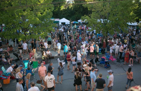 Normally held the third Friday of the month during spring and summer, Downtown After 5 had to go to a virtual format in May and June because of the COVID-19 pandemic. This photo shows a 2019 event.