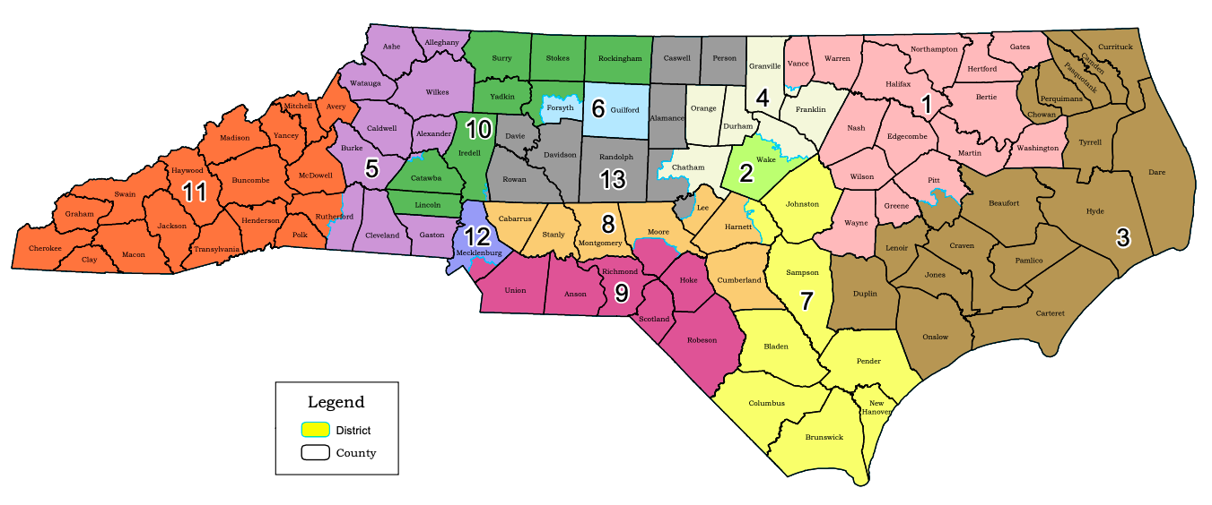 map-nc-congressional-districts-avltoday-election-2020